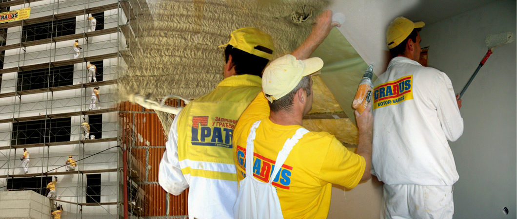 Izvođenje radova iz oblasti završnih radova u građevinarstvu.